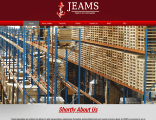 jeamslogistics.com screenshot