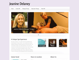 jeaninedelaneysmassagetherapy.com screenshot
