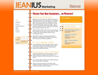jeaniusmarketing.wildapricot.org screenshot