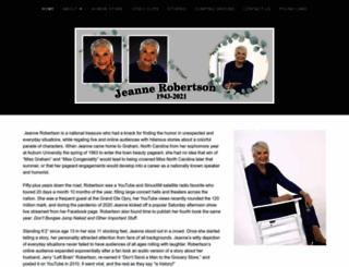 jeannerobertson.com screenshot