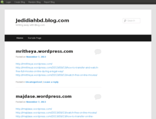 jedidiahbd.blog.com screenshot