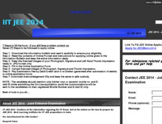 jee2014.in screenshot