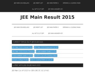 jeemainresult.in screenshot