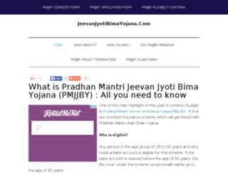 jeevanjyotibimayojana.com screenshot