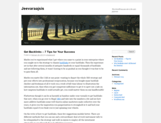 jeevaraajsis.wordpress.com screenshot