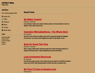 jeff-barr.com screenshot