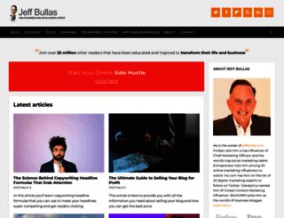 jeffbullas.com screenshot
