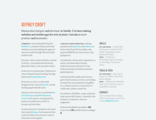 jeffcroft.com screenshot