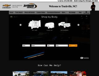 jeffgordonchevy.worktrucksolutions.com screenshot
