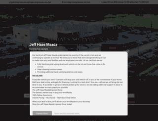 jeffhaasmazda.com screenshot