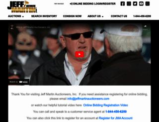 jeffmartinauctioneers.com screenshot