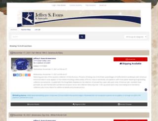 jeffreysevans.hibid.com screenshot