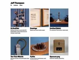 jeffreythompson.org screenshot