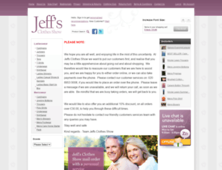 jeffsclothesshow.co.uk screenshot