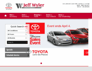 jeffwylerclarksvilletoyota.calls.net screenshot