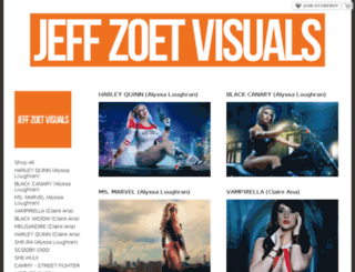 jeffzoetvisuals.storenvy.com screenshot