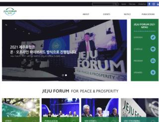 jejuforum.or.kr screenshot