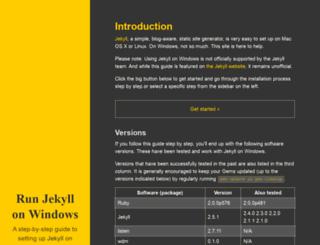jekyll-windows.juthilo.com screenshot