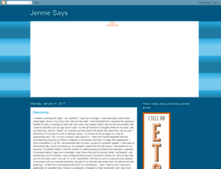 jenniesaysblog.blogspot.com screenshot