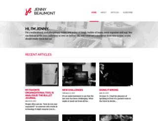 jennybeaumont.com screenshot