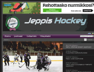 jeppishockey.fi screenshot