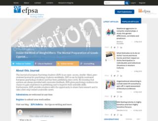 jeps.efpsa.org screenshot