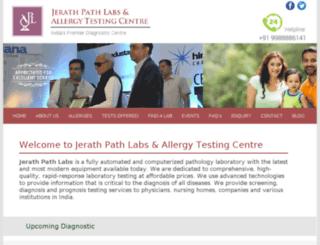 jerathallergytestingcentre.com screenshot
