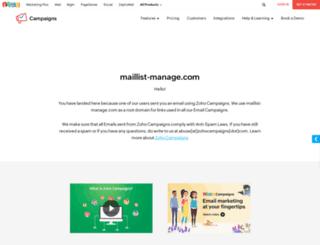 jeremy.maillist-manage.com screenshot