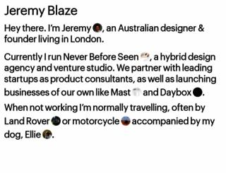 jeremyblaze.com screenshot