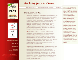 jerrycoyne.uchicago.edu screenshot