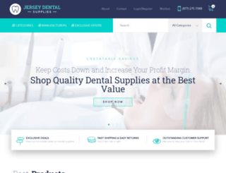 jerseydentalsupplies.com screenshot