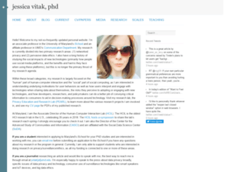 jessicavitak.com screenshot