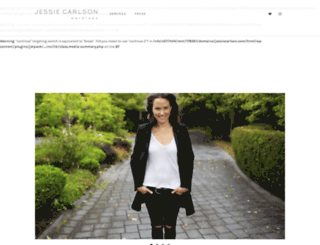 jessiecarlson.com screenshot