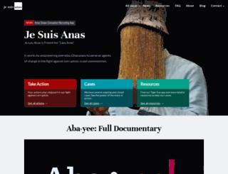 jesuisanas.org screenshot