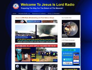 jesusislordradio.info screenshot