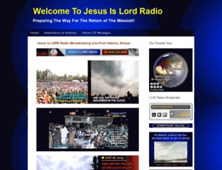 jesusislordradio.net screenshot