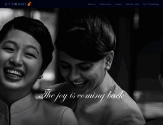 jetairways.com screenshot