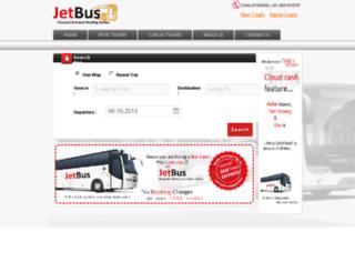 jetbus.co.in screenshot