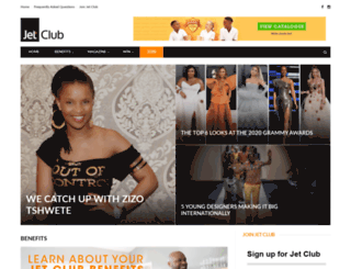jetclub.co.za screenshot