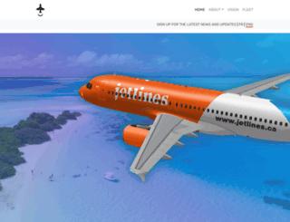 jetlines.ca screenshot