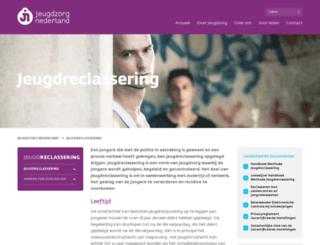 jeugdreclassering.nl screenshot