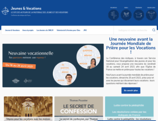 jeunes-vocations.catholique.fr screenshot