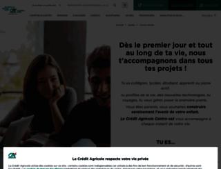 jeunes.ca-centrest.fr screenshot