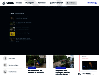 jeunes.paris.fr screenshot