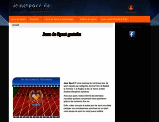 jeux-sport.fr screenshot