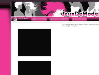 jeuxdemode.eu screenshot