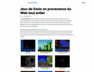 jeuxdesonic.fr screenshot