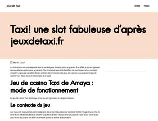 jeuxdetaxi.fr screenshot