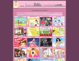 jeuxfille-gratuit.com screenshot