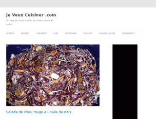 jeveuxcuisiner.com screenshot
